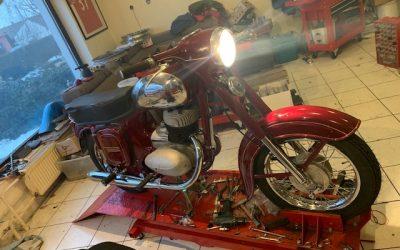 Jawa 250/559 – renovácia motocyklu