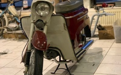 Jawa 50/05 – čiastočná  renovácia motocyklu