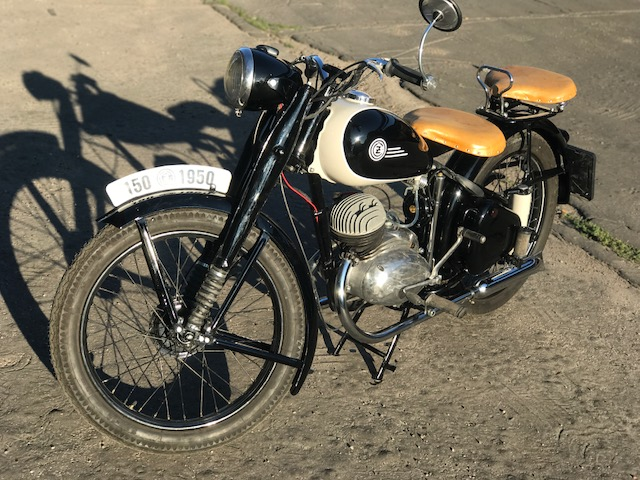 ČZ 150c kominíček 1950 – čiastočná renovácia