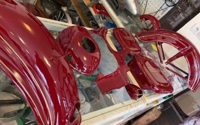 Jawa 350/354 – lakovanie motocyklu