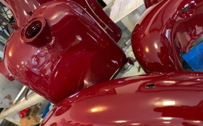 Jawa 50/555 – lakovanie motocyklu