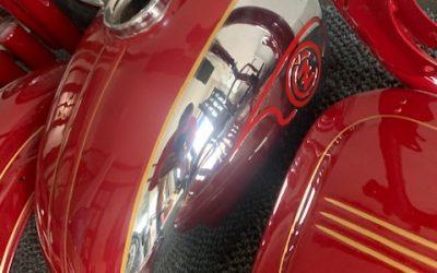 Čz 175/450 DeLuxe – lakovanie motocyklu